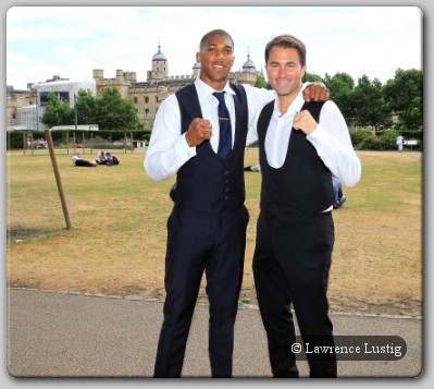 Anthony Joshua MBE and Eddie Hearns