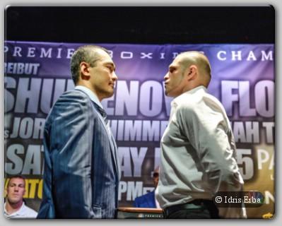 Beibut Shumenov BJ Flores July 25 PBC On NBC Fighters Meet The Las Vegas Press
