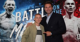 BATTLE OF THE MERSEY PROMOTION PRESS CONFERENCE, HILTON HOTEL, LIVERPOOL PIC;LAWRENCE LUSTIG PROMOTER EDDIE HEARN ANNOUNCES THE SIGNING OF PAUL BUTLER TO HIS MATCHROOM BOXING PROMOTIONS