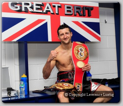 Carl Froch with title belt Froch Vs Kessler Replay On Sky Sports HD4 Tonight