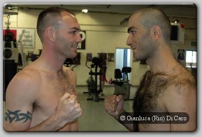 Colin Lynes Beka Sutidze weighin Colin Lynes Vs Beka Sutidze Weigh In Weights for 'Two Tribes'