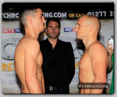 Anthony Crolla and Gavin Rees