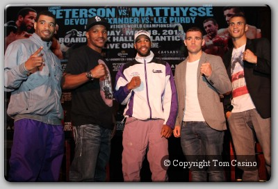 Devon Alexander Lamont Peterson Lucas Matthysse Lee Purdy Devon Alexander, Lamont Peterson Head Big Title Fight Show