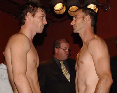 Duddy Howeweighin1 Boxing Weigh In: Johns Duddy vs. Charlie Howe
