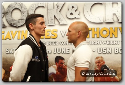 Gavin Rees and Anthony Crolla