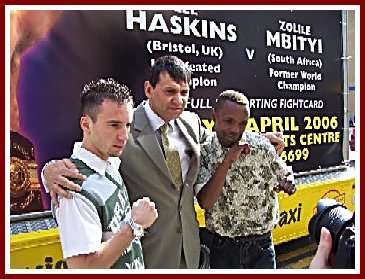 Lee Haskins Zolile Mbityi4 Boxing Press Conference: Lee Haskins   Zolile Mbityi