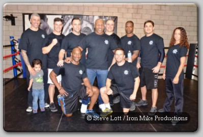 Mike Tyson at Barry's Boxing Center Las Vegas
