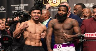 Manny Pacquiao vs Adrien Broner weigh-in