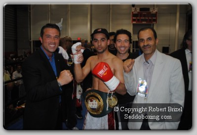 Sadam11 Congressman Michael Grimm Cheers Sadam Ali To Victory at Aviator Arena