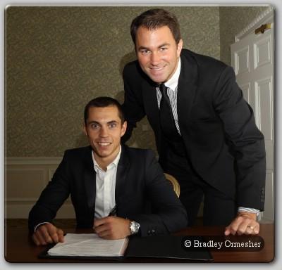 Scott Quigg and Eddie Hearn