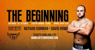 The Begining Boxing event banner