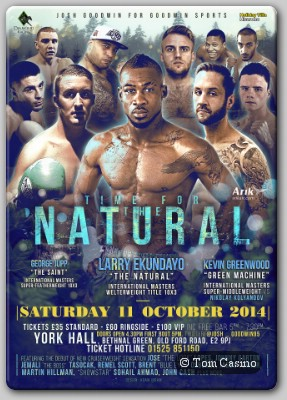 The Natural Larry The Natural Ekundayo Headlines York Hall Show October 11