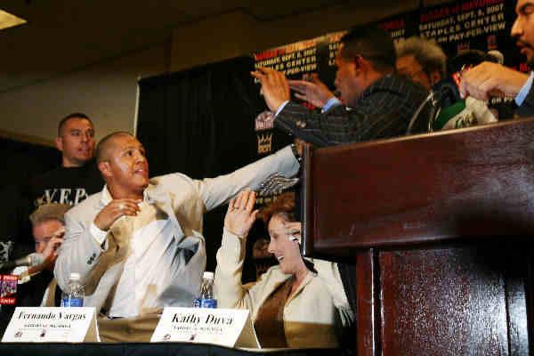 Boxing News Vargas Mayorga Brawl At Press Conference