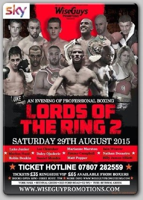 YorkHallAug29thPoster Lords Of The Ring II Scheduled For York Hall August 29