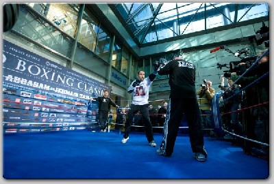 AbrahamTaylor21 Showtime Boxing: Abraham, Taylor Workout In Berlin