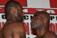 DawsonvsJohnson1 Boxing Weigh In: Woods vs. Tarver   Dawson vs. Johnson