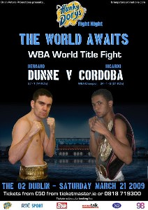 DunneVCordoba1 Brian Peters Boxing: Dunne Gets WBA Title Shot Against Cordoba