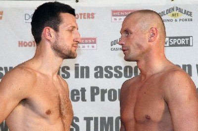 Froch vs Rybacki1 Boxing Weigh In: Junior Witter vs. Timothy Bradley, Carl Froch vs. Albert Rybacki