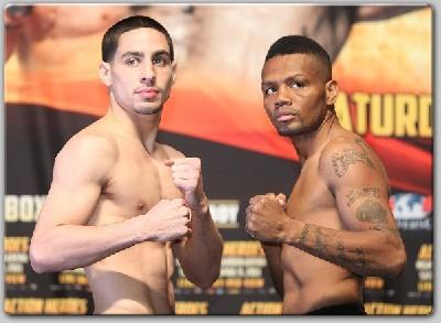 GarciaCampbellWeighIn1 Boxing Weights: Erik Morales vs. Marcos Maidana