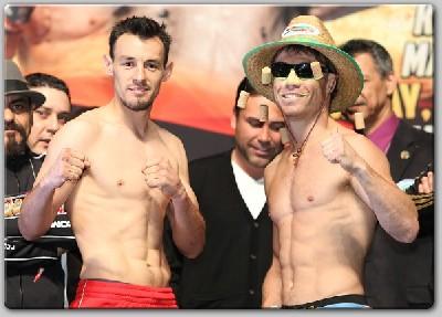 GuerreroKatsidisWeighIn1 Boxing Weights: Erik Morales vs. Marcos Maidana