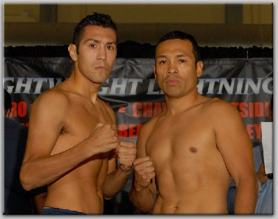 HernandezEscobedoWeighIn1 Boxing Weights and Photos For Lightweight Lightning
