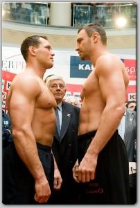 KSweighin31 Boxing Weights: Vitali Klitschko vs. Albert Sosnowski