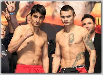 MoralesMaidanaWeighIn1 Boxing Weights: Erik Morales vs. Marcos Maidana