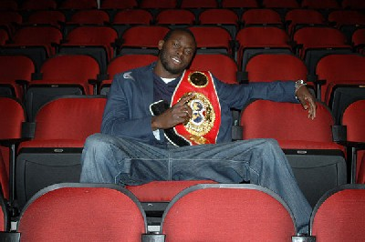 SteveSeat1 IBF Boxing Champ Steve Cunningham Visits Venue For Title Defense Against Tomasz Adamek