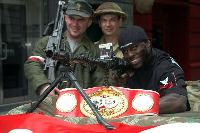 SteveSoldiers1 IBF Boxing Champ Steve 'USS' Cunningham To Guest At NYC Veterans Day Parade