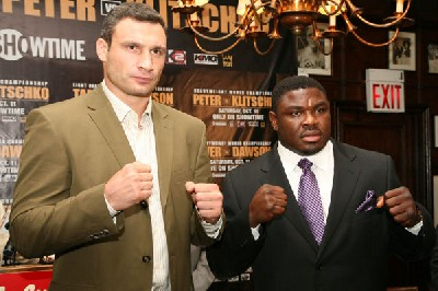 Vitali Klitschko sam peter31 Vitali Klitschko Makes Boxing Comeback Against WBC Champ Sam Peter On Showtime