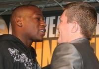 floyd hatton london1 Boxing Press Conference: Ricky Hatton vs. Floyd Mayweather in London