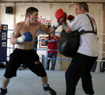 Ricky Hatton Puts On Boxing Display At Phoenix Camp In Manchester