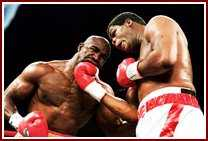 boweholyfield1 Riddick Bowe: Requiem for a Heavyweight.