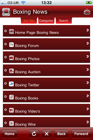 Saddo Boxing iPhone/iPod App
