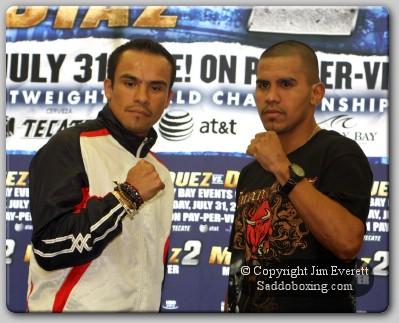diaz marquez presser1 Boxing Preview: Juan Manuel Marquez vs. Juan Diaz 2