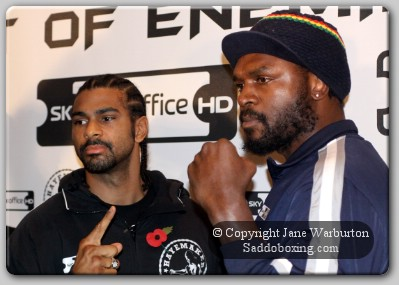 harrison haye faceoff21 Boxing Preview Analysis: David Haye vs. Audley Harrison